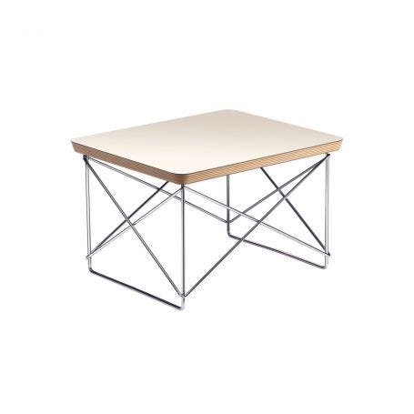 Eames Occasional Table LTR White Chrome Base