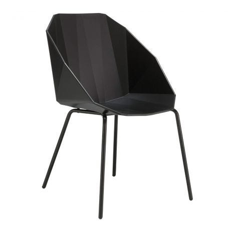 Rocher Dining Chair Black/Black Legs