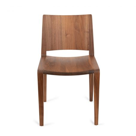 Voltri Chair in Walnut - Front View