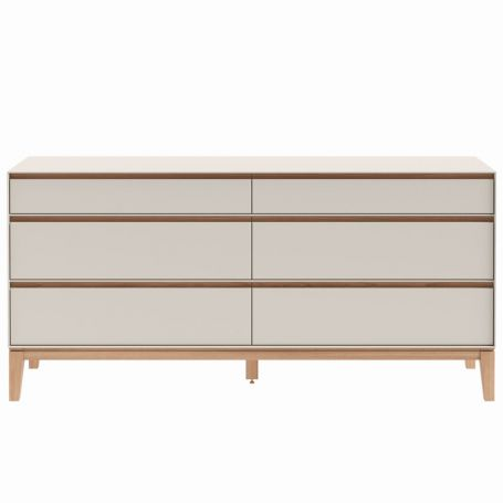 Lars 6 Drawer Chest Wide Cashmere