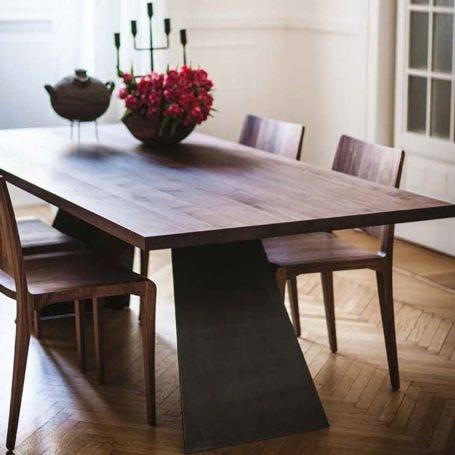 Bedrock Plank C Table 6-8 Seater Walnut