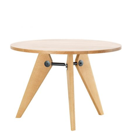 Guéridon 2-4 Seater Table Natural Solid Oak