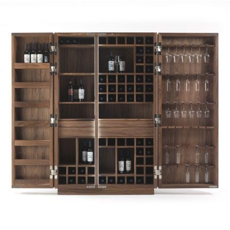 Cambusa Wine Cabinet Walnut