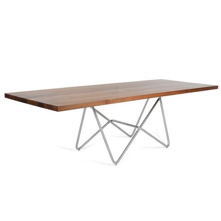 Piano Dining Table Walnut