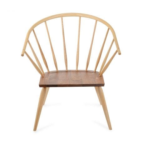 Burnham Windsor Chair in Ash and Black Walnut - Front View