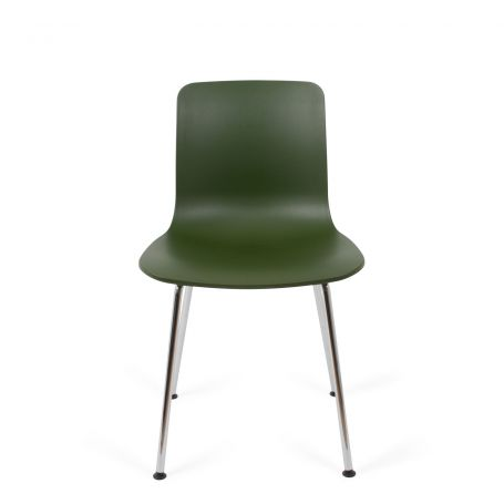 Hal Tube Sidechair Chrome/Ivy - Front View