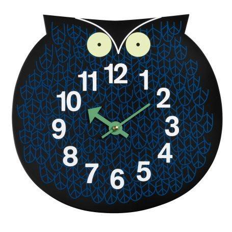 Omar The Owl Black Wall Clock