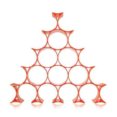 Infinity Bottle Rack Orange