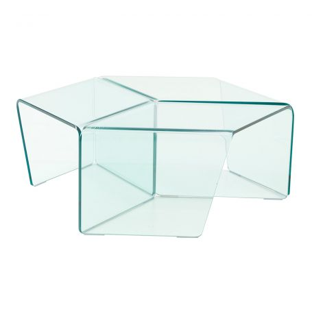 Rosis Set of 3 Clear Glass Side Tables