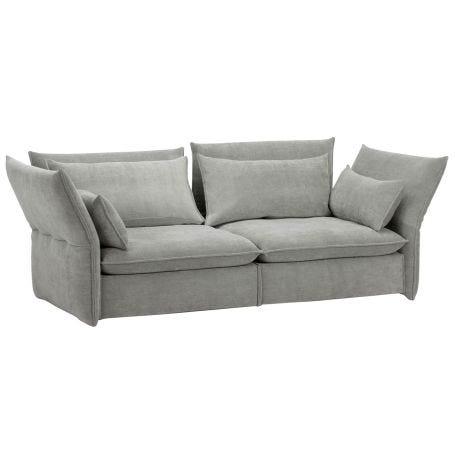 Mariposa 2 1/2 Seater Sofa Iroko Silver Grey