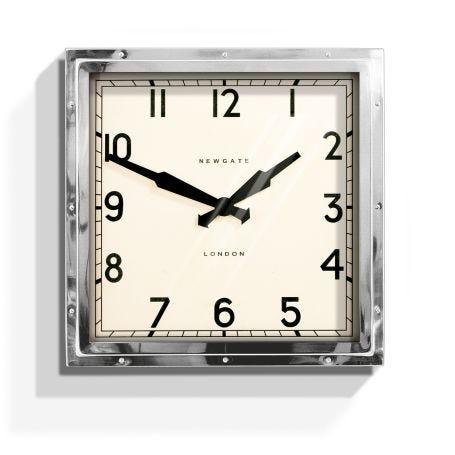 Quad Chrome Wall Clock