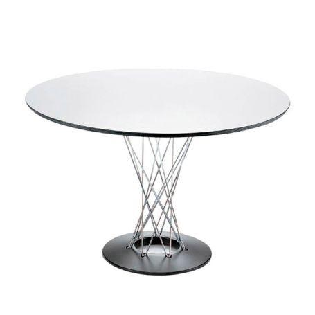 Noguchi Table White Laminate Top Black