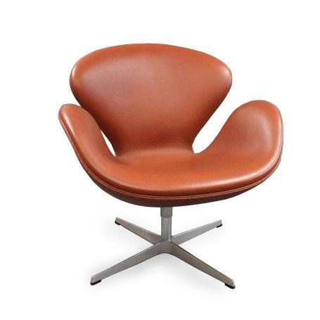 Swan Chair Grace Walnut Leather