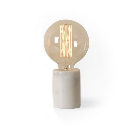 Bristol Table Lamp White Marble