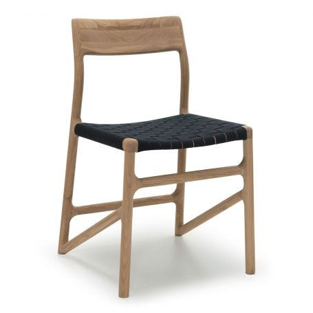 Fawn Dining Chair Oak & Black Webbing