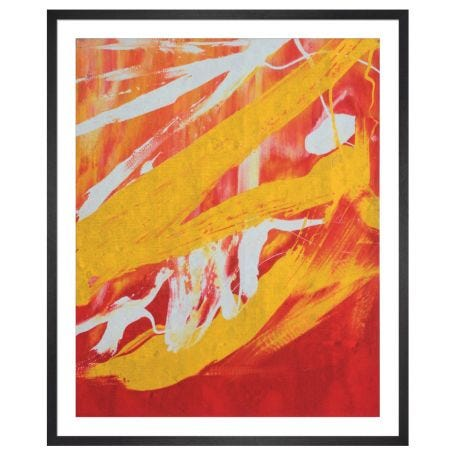 Square Abstract Painting, 1982 by Andy Warhol Framed Print