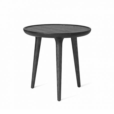 Accent Side Table Black Stained Oak
