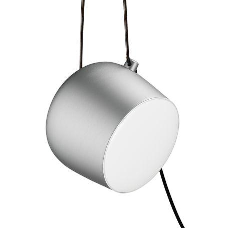 Aim Pendant Light Plug and Switch Aluminium Large
