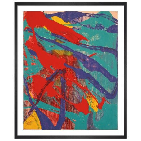 Rectangular Abstract Painting, 1982 by Andy Warhol Framed Print