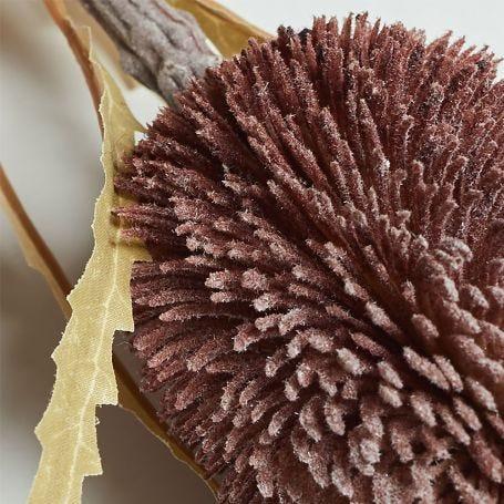 Banksia Burgundy Faux Flower