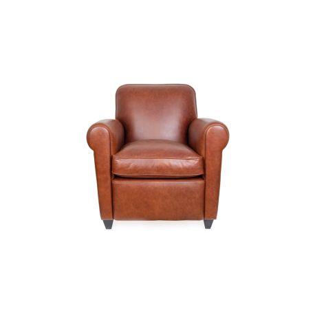Barrington II Club Chair Tan Leather