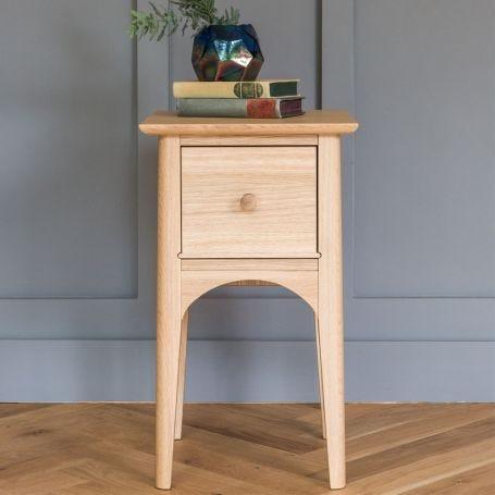 Blythe Compact Bedside Table Oak