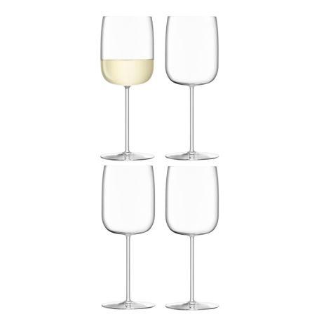 Borough White Wine Glass 380ml Clear x 4