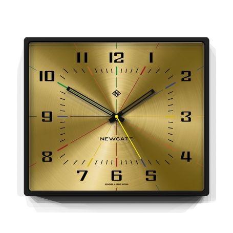 Box Office Wall Clock Brass