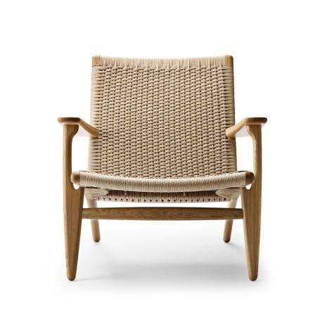 CH25 armchair Oak Oil / Natural cord