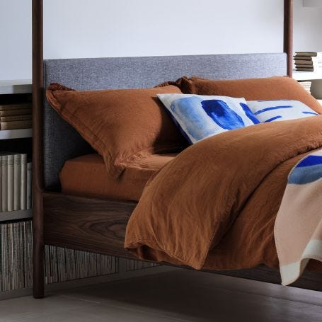 Washed Linen Bed Linen Cinnamon