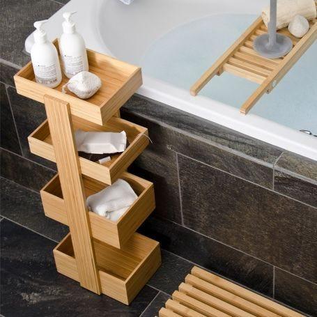 Bathroom Storage Stand Bamboo 4 tier