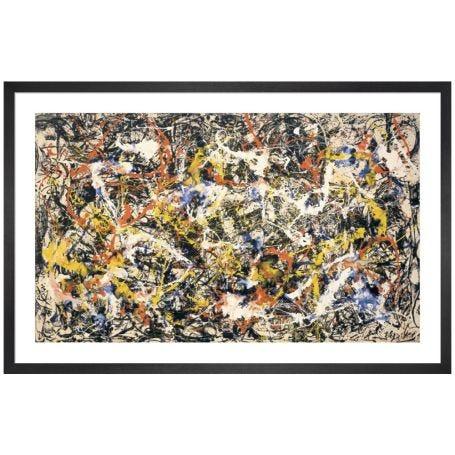 Convergence by Jackson Pollock Framed Print
