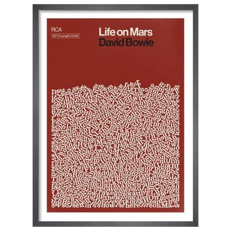 Life on Mars, David Bowie by Reign & Hail Framed Print