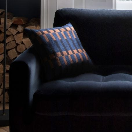 Dovetail Cushion Blue