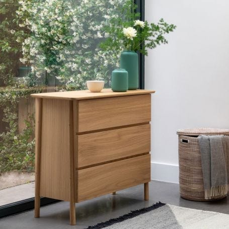 Eden Wide Chest Of Drawers Oak