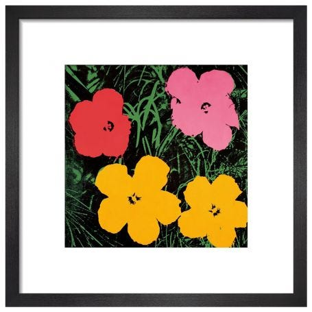 Flowers, C. 1964 by Andy Warhol Framed Print