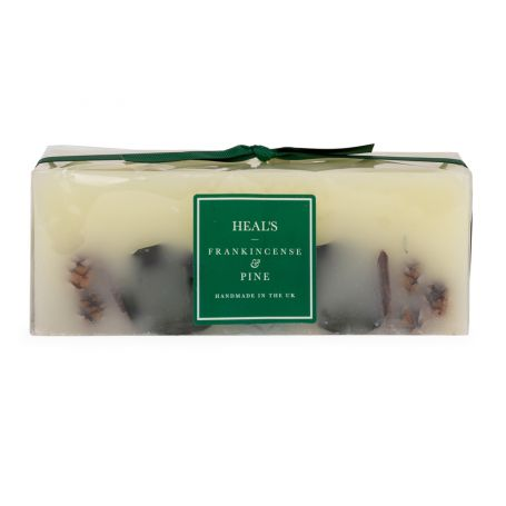 Frankincense & Pine Brick Candle With Botanicals