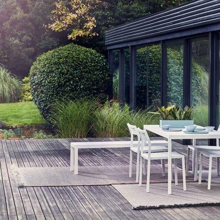Garden Layers Rug Diagonal Almond Blue