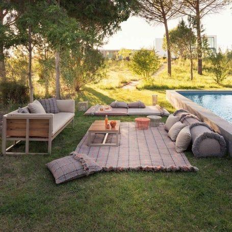 Garden Layers Rug Tartan Terracotta