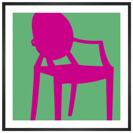 Ghost Chair by Yoni Alter Framed Print