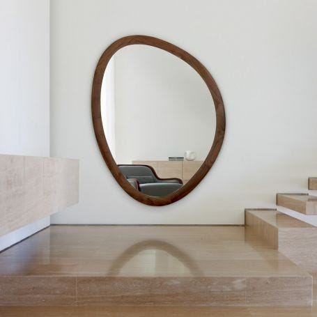 Giolo Wall Mirror Walnut Large