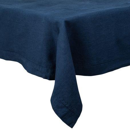 Heal's Linen Tablecloth Midnight Blue