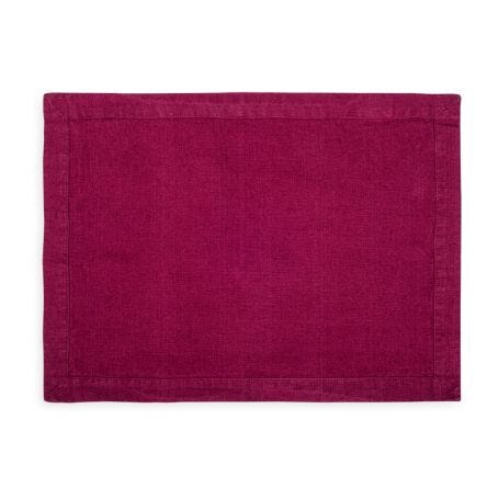 Heal's Linen Placemat Wine Red