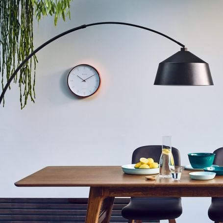 Heal's White & Copper Wall Clock