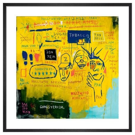 Hollywood Africans, 1983 by Jean-Michel Basquiat Framed Print