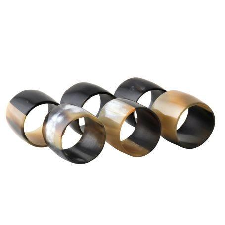 Horn Napkin Rings Set of Six