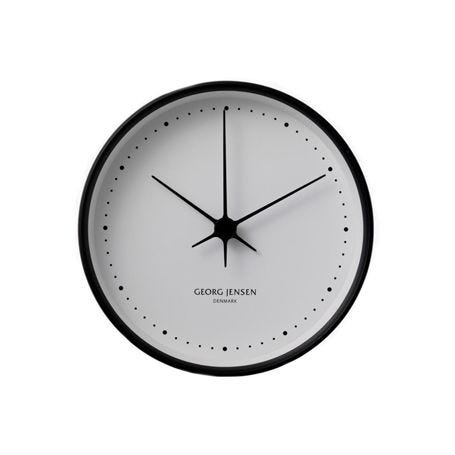 Henning Koppel Clock Black and White