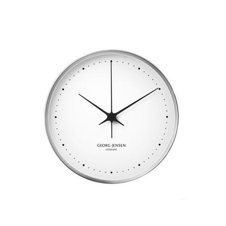 Henning Koppel Clock Stainless Steel and White