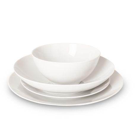 Thomas Loft White Porcelain 16 Piece Dinnerware Box Set
