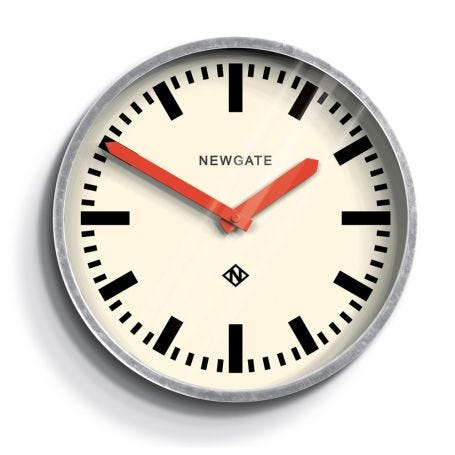 Luggage Wall Clock Red